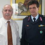 Επίσκεψη του νέου ταξίαρχου στον δήμαρχο Χαλκιδέων