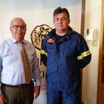 Επίσκεψη Πύραρχου στον δήμαρχο Χαλκιδέων