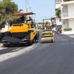 Ασφαλτοστρώσεις δρόμων στην Παραλία Αυλίδας