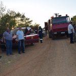 O Δήμαρχος Χαλκιδέων στην πυρκαγιά δασικής έκτασης στα διοικητικά όρια του Δήμου