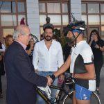 Ο Δήμαρχος Χαλκιδέων υποδέχθηκε τον Πόντιο ποδηλάτη Βασίλη Καρυοφυλλίδη