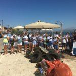 Καθάρισαν τον βυθό και την παραλία της Αυλίδας