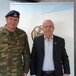 Συνάντηση Δημάρχου Χαλκιδέων με τον νέο Διοικητή της Σχολής Πεζικού