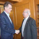 Επίσκεψη Νίκου Παπανδρέου στο Δημαρχείο Χαλκίδας