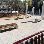 Εργασίες αποκατάστασης στην πλατεία του Ιερού Ναού Παμμεγίστων Ταξιαρχών
