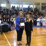 Η Δήμαρχος Χαλκιδέων στην έναρξη του Πανελλήνιου Κυπέλλου ΚΑΡΑΤΕ