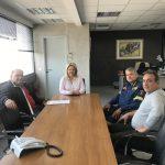 Συνάντηση της Δημάρχου Χαλκιδέων με την Ένωση Υπαλλήλων Πυροσβεστικού Σώματος Στερεάς Ελλάδας