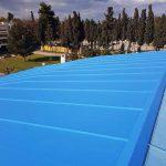 Εργασίες αποκατάστασης της οροφής του Κλειστού Γυμναστηρίου «Χαλκιά Αναστασιάδη»