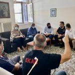 Επίσκεψη της Δημάρχου Χαλκιδέων στο Ε.Κ.Α.Β. και την Πυροσβεστική Υπηρεσία