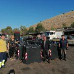 Τοποθέτηση 40 καινούριων κάδων απορριμμάτων στις πληγείσες περιοχές της Δ.Ε. Ληλαντίων