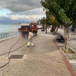 Εργασίες καθαριότητας και απολύμανσης στην παραλία έως και την Κάνηθο