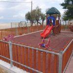 Εργασίες βελτίωσης στην παιδική χαρά στην περιοχή Συκιές του Δήμου Χαλκιδέων