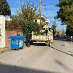 Επιχειρήσεις καθαριότητας στις περιοχές της Κανήθου και της Σχολής Πεζικού
