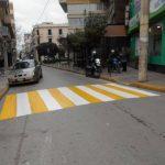Εργασίες διαγραμμίσεων σε διαβάζεις πεζών σε δρόμους του Δήμου Χαλκιδέων