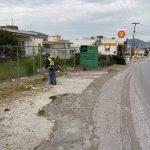 Επιχειρήσεις καθαριότητας στη Λεωφόρο Γ. Παπανδρέου στη Λιανή Άμμο