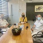 Εθιμοτυπική επίσκεψη του Διοικητή της 4ης Περιφερειακής Διοίκησης του Λιμενικού Σώματος και του Κεντρικού Λιμενάρχη Χαλκίδας στη Δήμαρχο Χαλκιδέων