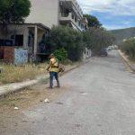 Εργασίες καθαριότητας στις Εργατικές κατοικίες στον Άγιο Κωνσταντίνο