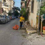 Επεμβάσεις καθαριότητας στις περιοχές Δεξαμενή και Άγιος Ιωάννης