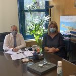 Συνάντηση της Δημάρχου Χαλκιδέων με τον Υφυπουργό Υποδομών