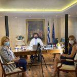 Συνάντηση της Δημάρχου Χαλκιδέων με τον Υπουργό Ανάπτυξης κι Επενδύσεων